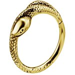 Conch Snake 1.2mm Clicker, PVD Gold Stahl