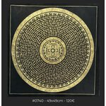 Black Gold Mantra Mandala, 49x49cm