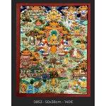 Budha life Story, 50x38cm