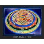 3D Kalchakra Mandala , 50x35cm