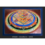 3D Kalchakra Mandala , 42x28cm