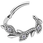 Nickelfree jew. septum or daith ring/clicker #14 in 1.2mm...