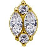 18K Gold Internal Attachm. #71 mit Marquise Premium...