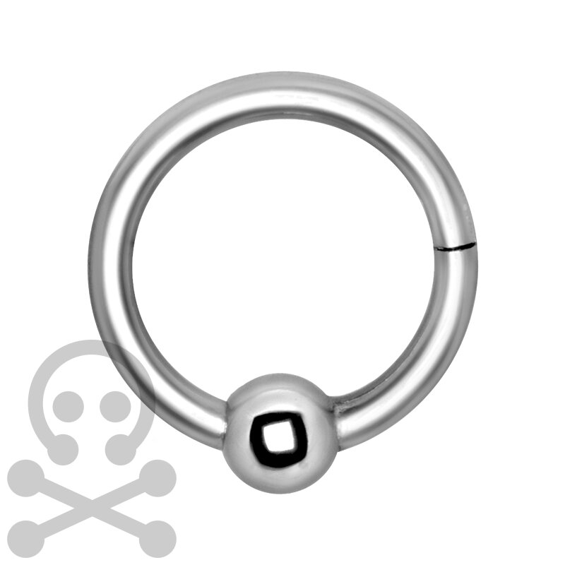 Hinged 1.2mm Ball Closure Stahl Ring - handpoliert