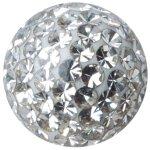 Crystal Ball 1.6mm mit Crystals und Epoxy Beschichtung