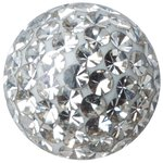 Crystal Ball 1.6mm with Crystals and Epoxy coating