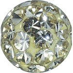 Crystal Ball 1.6mm mit Crystals, Double Threaded, Epoxy