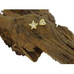18K Gold Jew. Att. Star (04) for 1.2 or 1.6 Bioplast® Labret