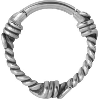 Hinged Ring 1.2mm Barbwire - handpoliert