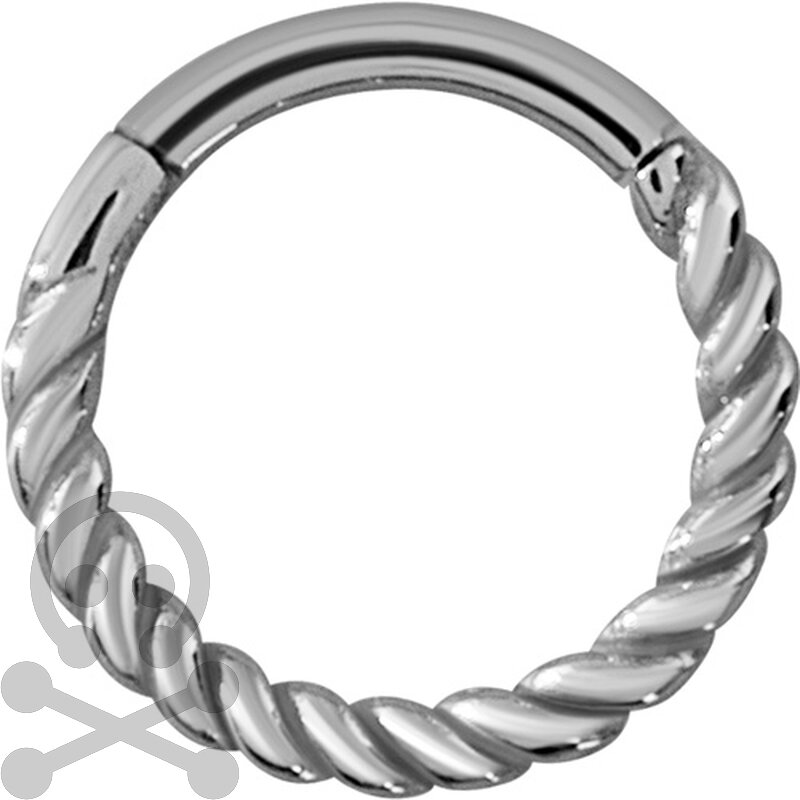 Hinged Ring 1.2mm Twisted wire - handpoliert