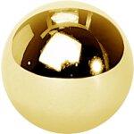 Stahl int. Kugel Gold 1.6mm für int. Schmuck (SBBG16)