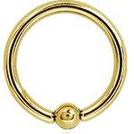 Ball Closure Ring Gold 1.6mm Ball, Stahl