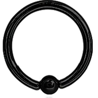 Ball Closure Ring 1.0mm Black Stahl