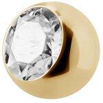 Jew. Ball Gold 1.6mm, Stahl