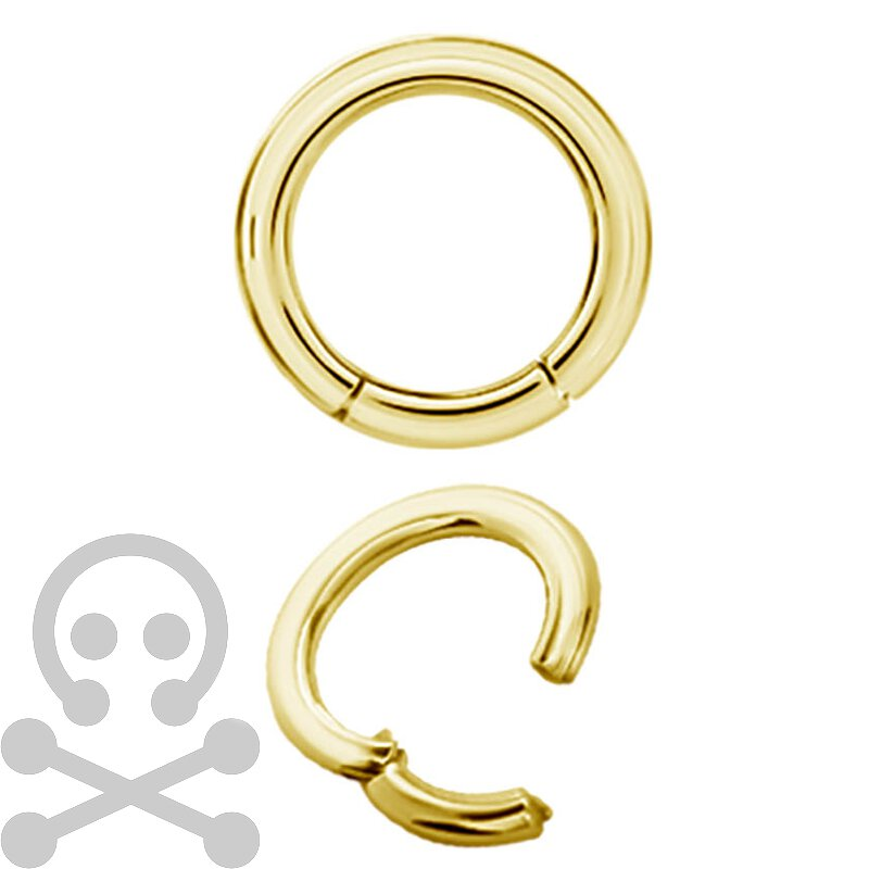 Hinged Ring 24K Gold Steel Clicker (Segment Optik)