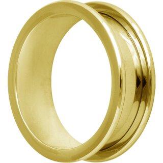 Golden Steel Flesh Tunnel, round Edges - Trust Wholesale