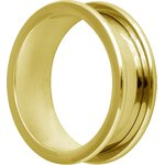 Golden Steel Flesh Tunnel, round Edges