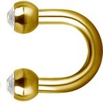 Golden U-Shape 1.2mm Steel Barbell (as long as on stock)