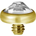 Gold Titan Jew. Disc 0.8 mm for 1.2 mm internal jewellery