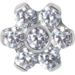 Titan Jew. Disc Flower 1.2 mm for 1.6 mm internal jewellery