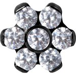 Black Titan Jew. Disc Mini Flower 0.8 mm for 1.2 mm...