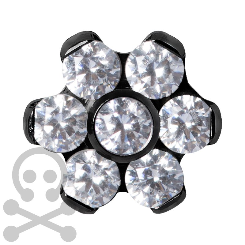 Black Titan Jew. Disc Flower 1.2 mm für 1.6 mm...