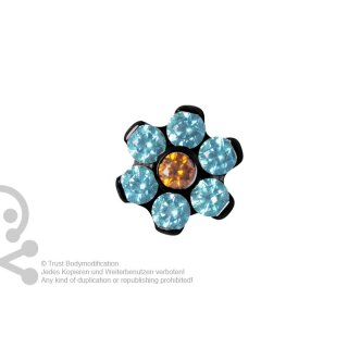 Black Titan Jew. Disc Flower 1.2 mm für 1.6 mm Internal Schmuck